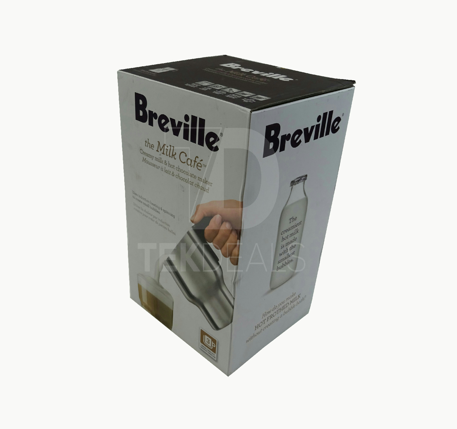 Breville The Milk Cafe Milk & Hot Chocolate Maker BMF600XL Silver