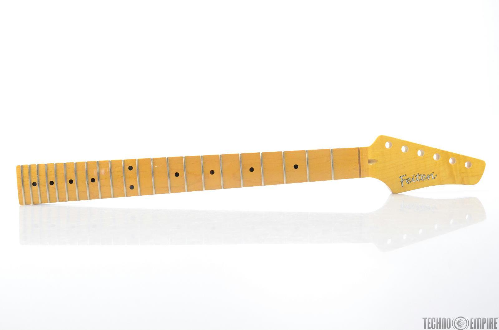 Buzz Feiten Maple Electric Guitar Neck Birdseye Fretboard Nashville Fat #28574