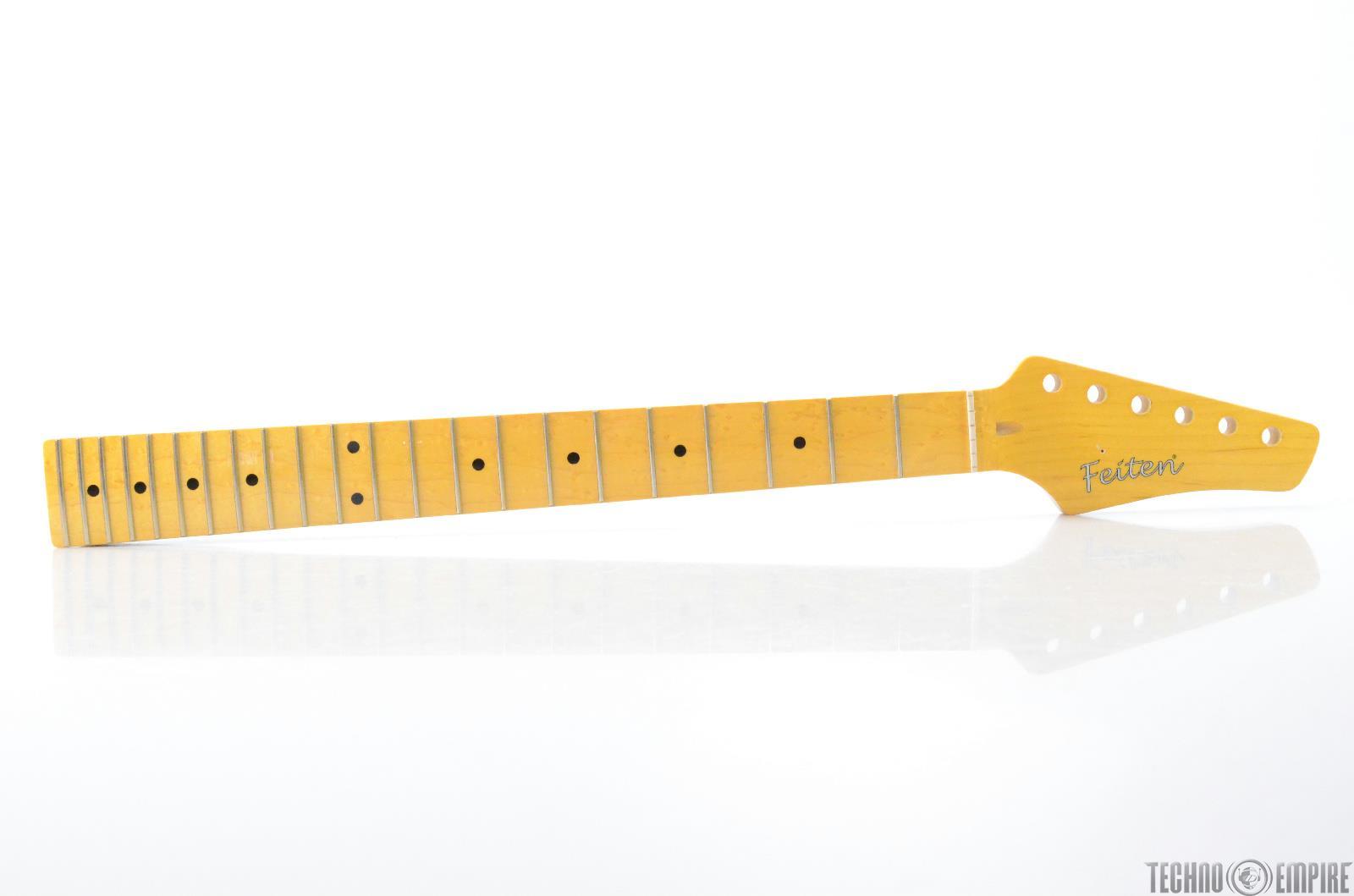 Buzz Feiten Maple Electric Guitar Neck Birdseye Fretboard Nashville Fat #28568