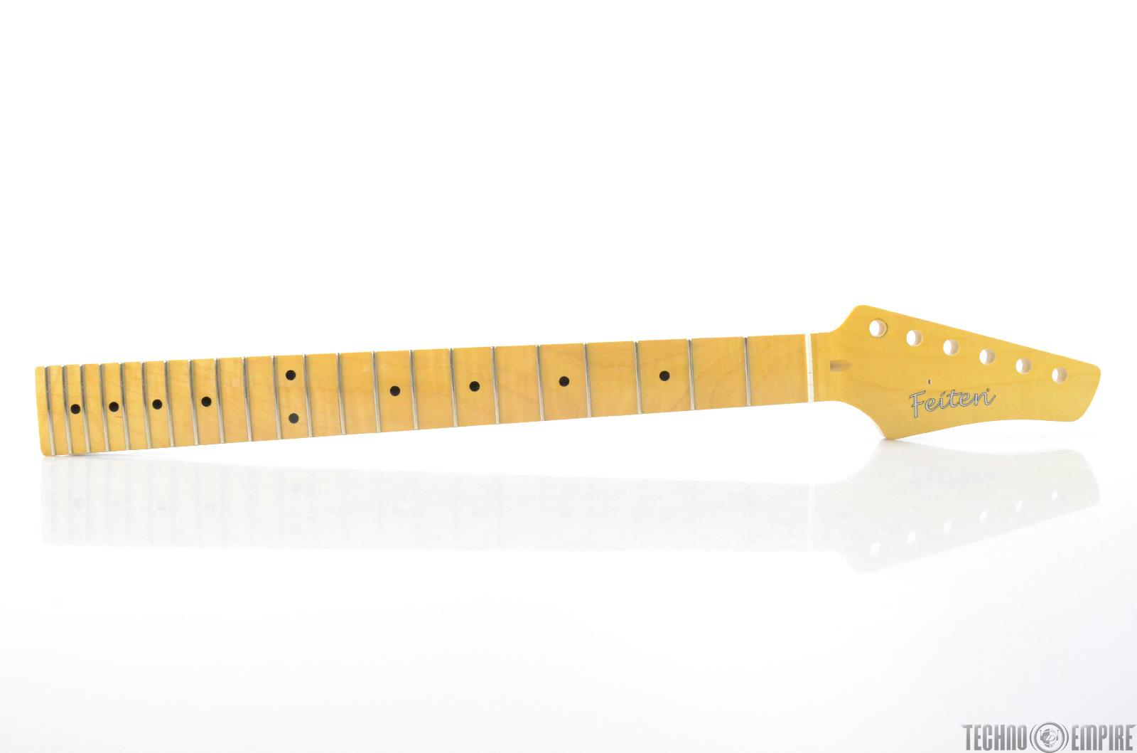 Buzz Feiten Maple Electric Guitar Neck Birdseye Maple Nashville Fat #28569
