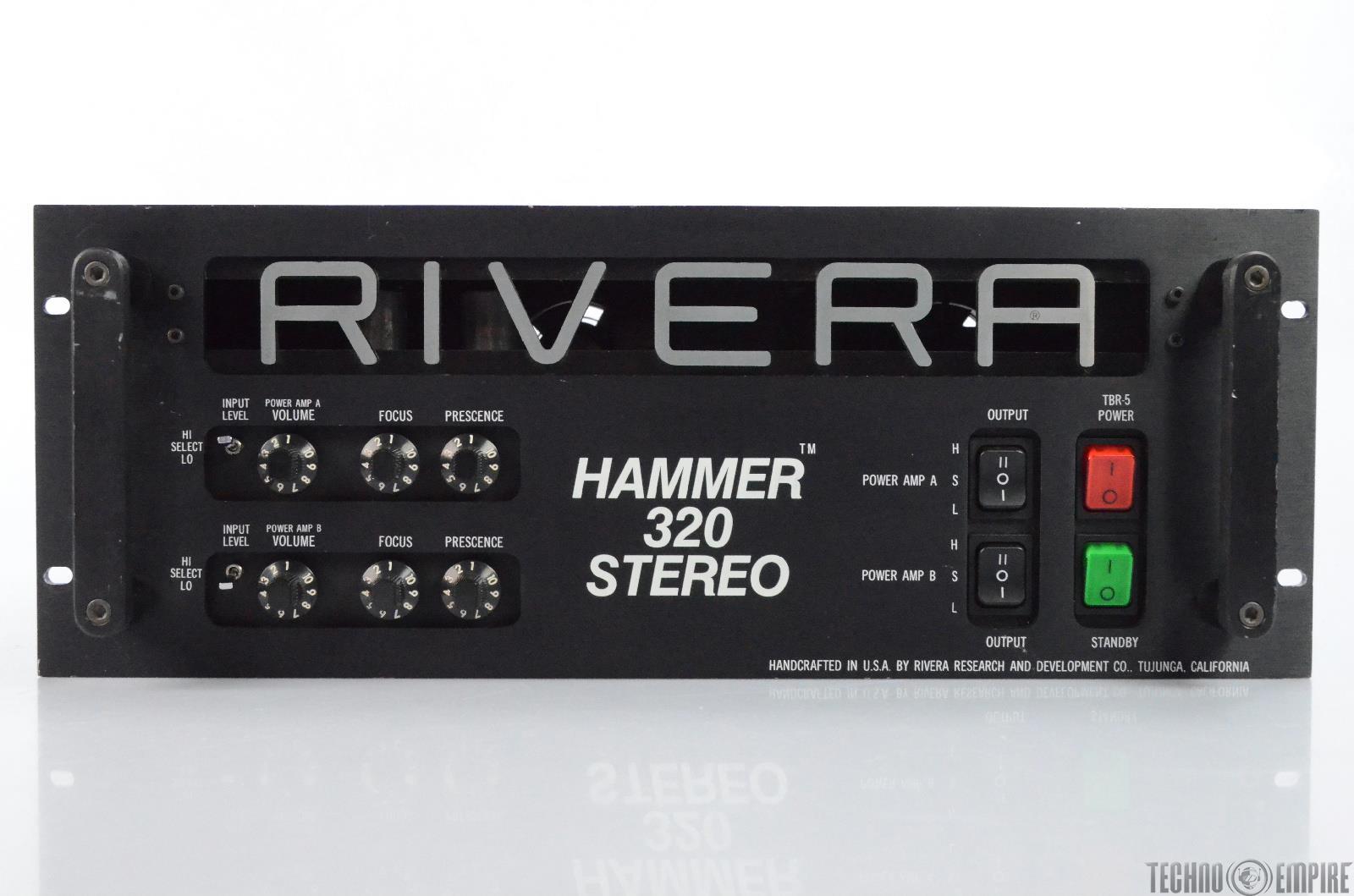 Rivera TBR-5 Hammer 320 Stereo Tube Power Amp Guitar Bass Amplifier #29260