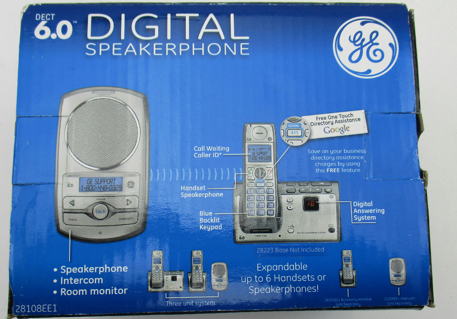General Electric Intercom System Not Lossing Wiring Diagram Home Thomson Dect 6 0 2 Way Wireless Speakerphone Rh Ebay Com Systems For