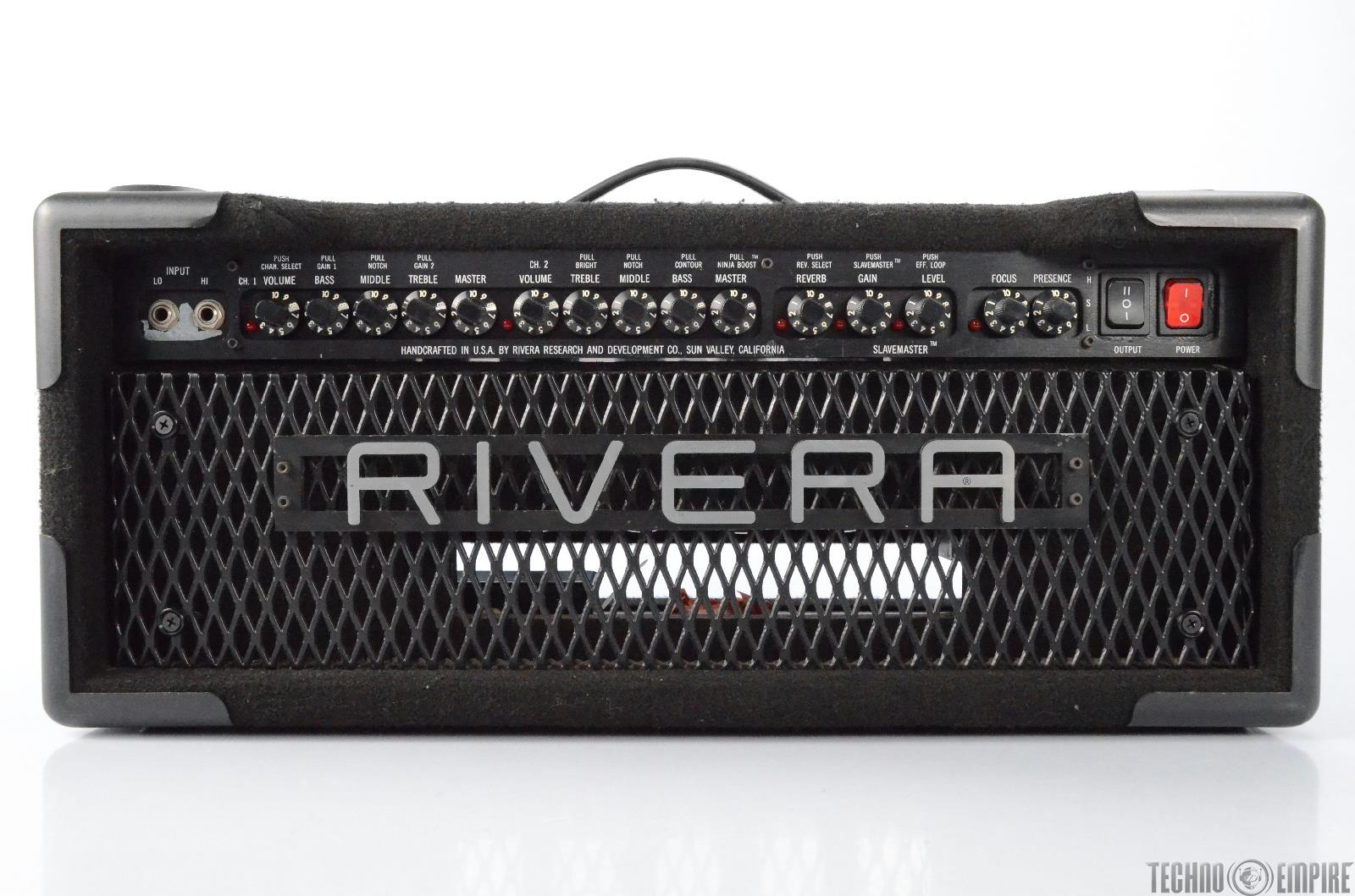 Rivera M100 100W Amp Guitar Amplifier Head Owned by Fred Tackett #29339