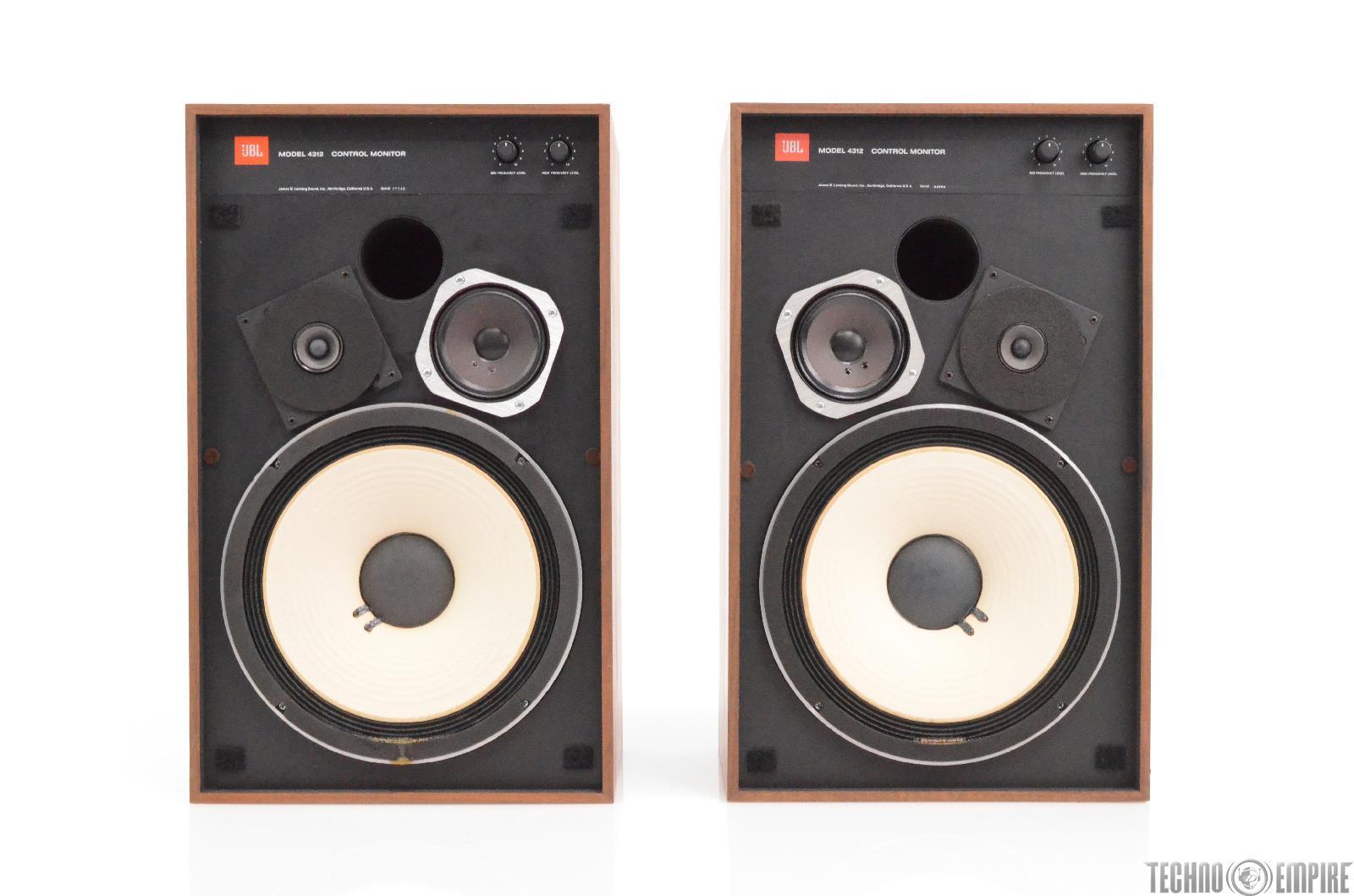 "JBL Model 4312 Control Monitor 3 Way 12"" Studio Reference Speakers PAIR #29433"
