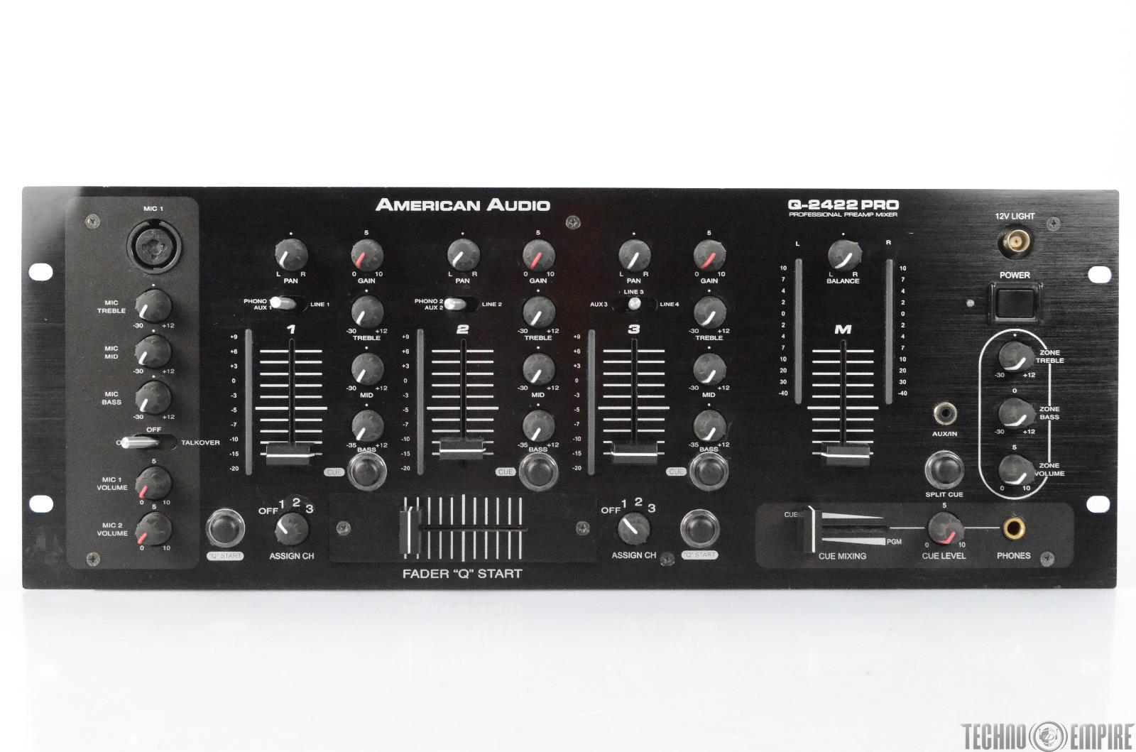 American Audio Q-2422 PRO Professional DJ Preamp Mixer #29362