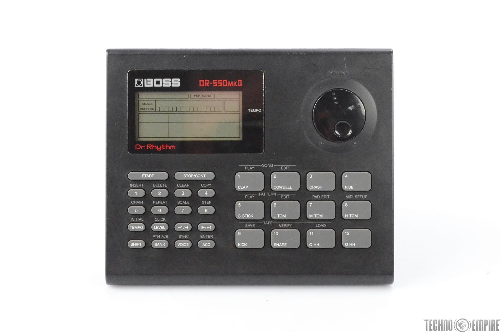 Boss DR-550MKII Dr Rhythm Drum Machine w/ PSU  DR 550 MKII DR550 MK II #29520