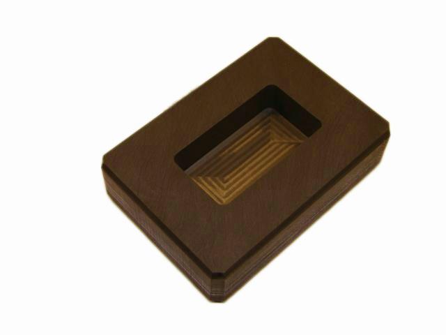 3 oz Gold 1 5 oz Silver Bar High Density Graphite Ingot Mold