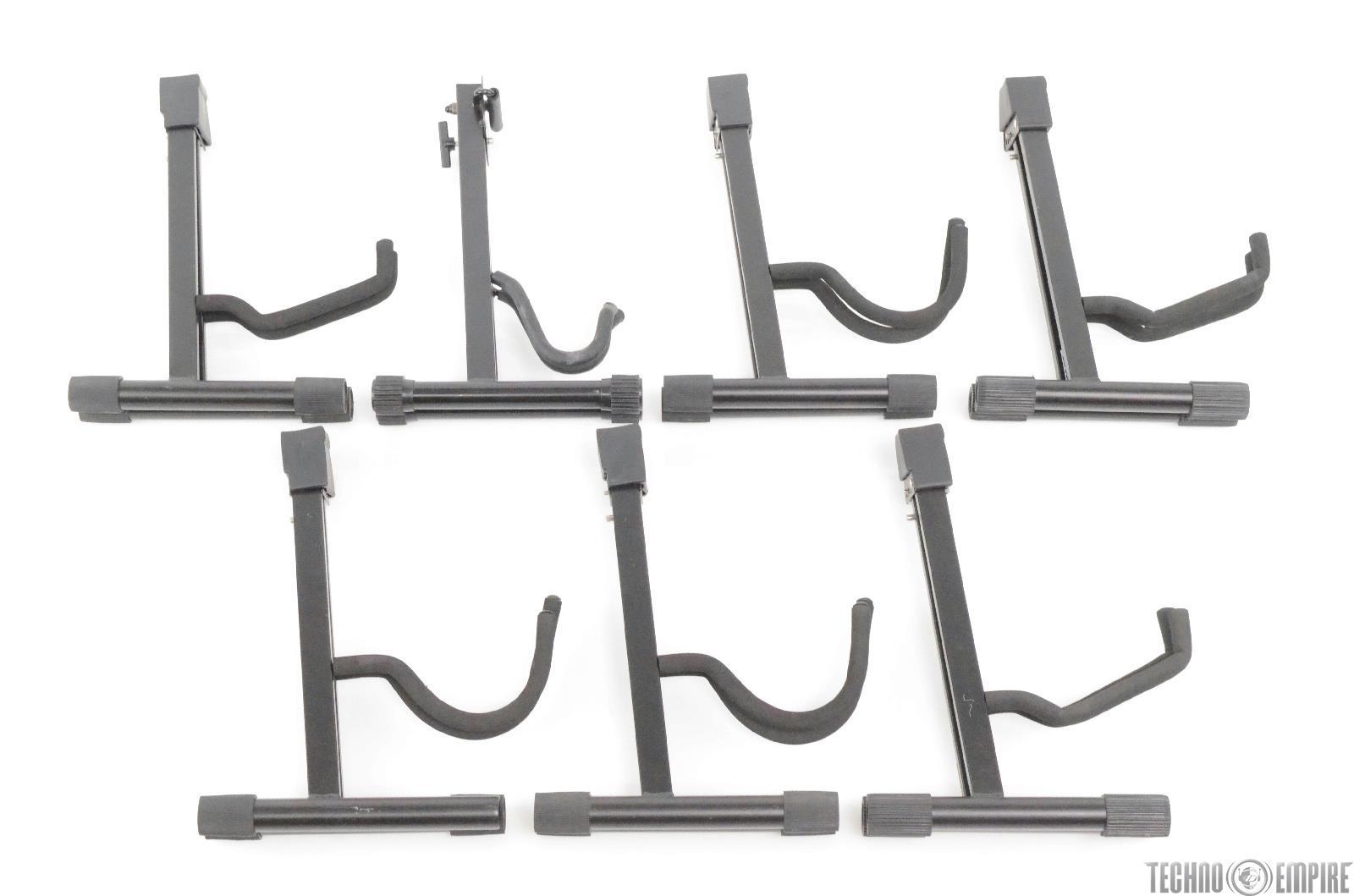 6 Pro Line & 1 Quik Lok A-Frame Acoustic & Electric Guitar Stands #29345