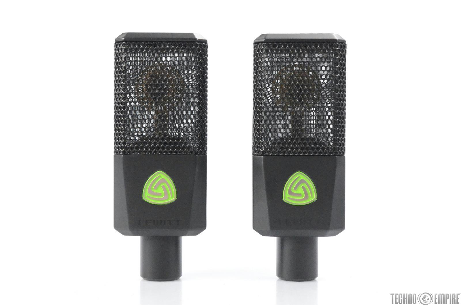 Lewitt LCT-240 Pro Condenser Microphone Mic Pair Black w/ Accessories #29653