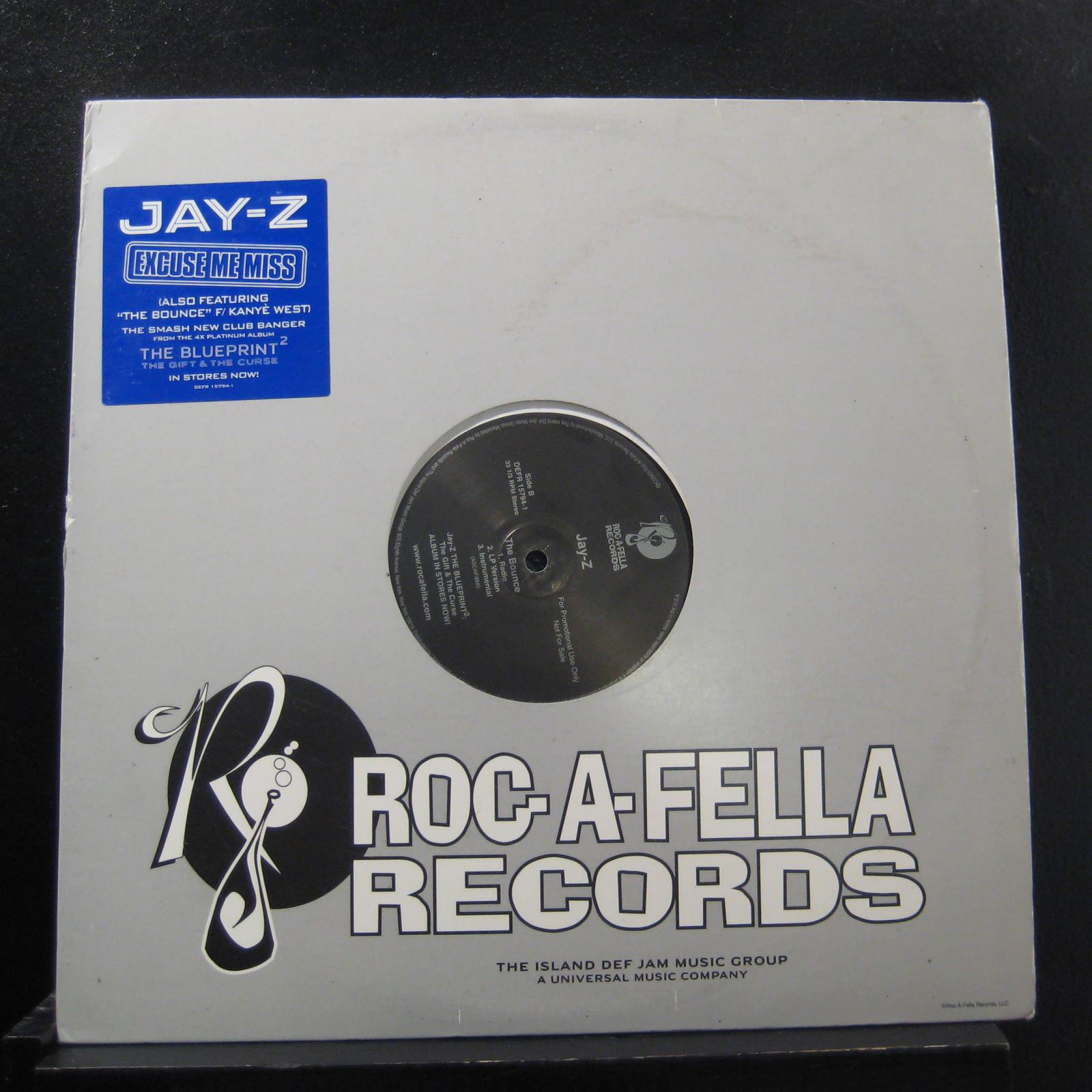 Jay z excuse me miss the bounce 12 vg defr 15794 1 promo vinyl actual item pictured open image in new tab for full resolution malvernweather Gallery