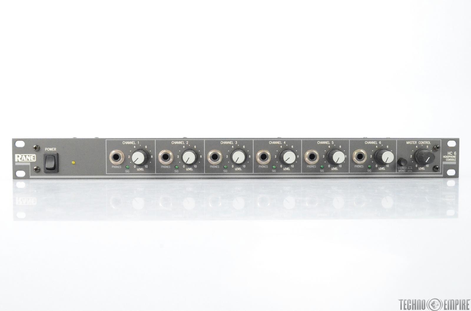 Rane HC-6 Headphone Console 6-channel Headphone Amplifier w/ Mogami Snake #29645