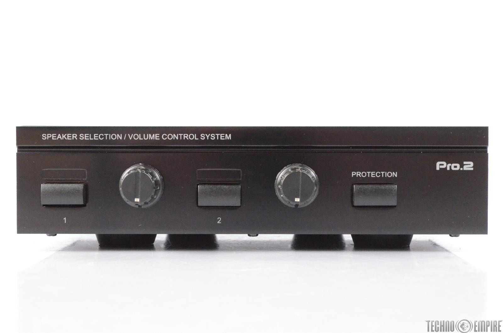 Pro2 SPS2A 2-Way Stereo Speaker Selector Switch w/ Volume Control #29682