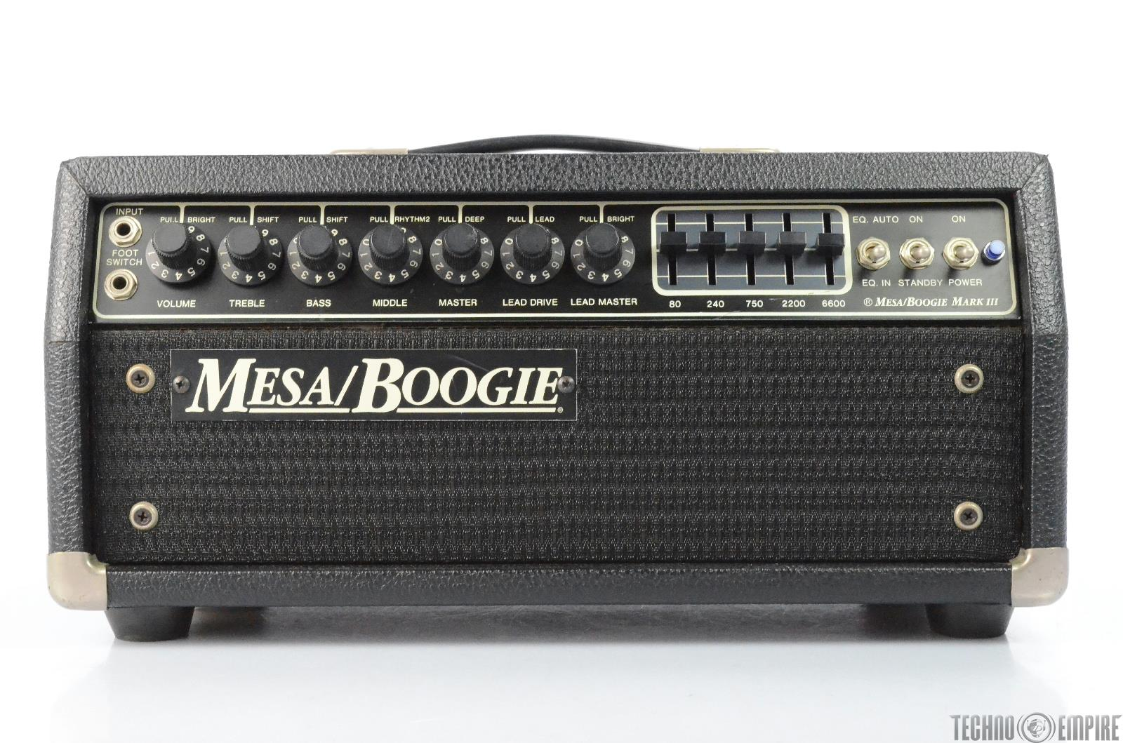 Mesa Boogie Mark III Blue Stripe Short Head Guitar Tube Amplifier Amp #29670