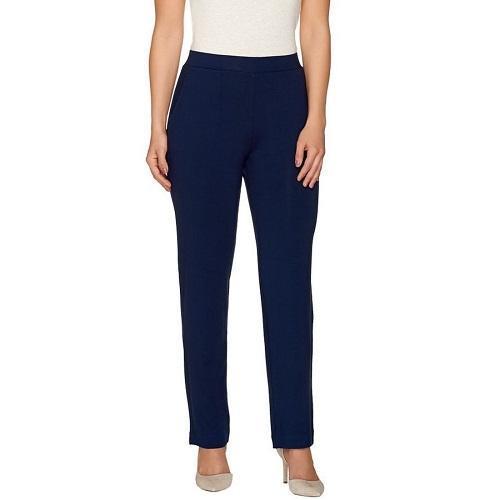 Susan Graver S Sapphire Dolce Knit Comfort Waist Straight Leg Pull
