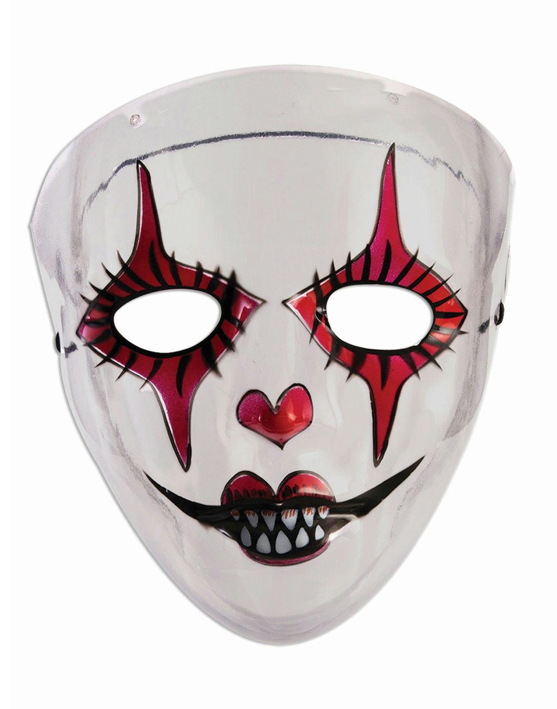 transparent evil harlequin womens adult red black white jester