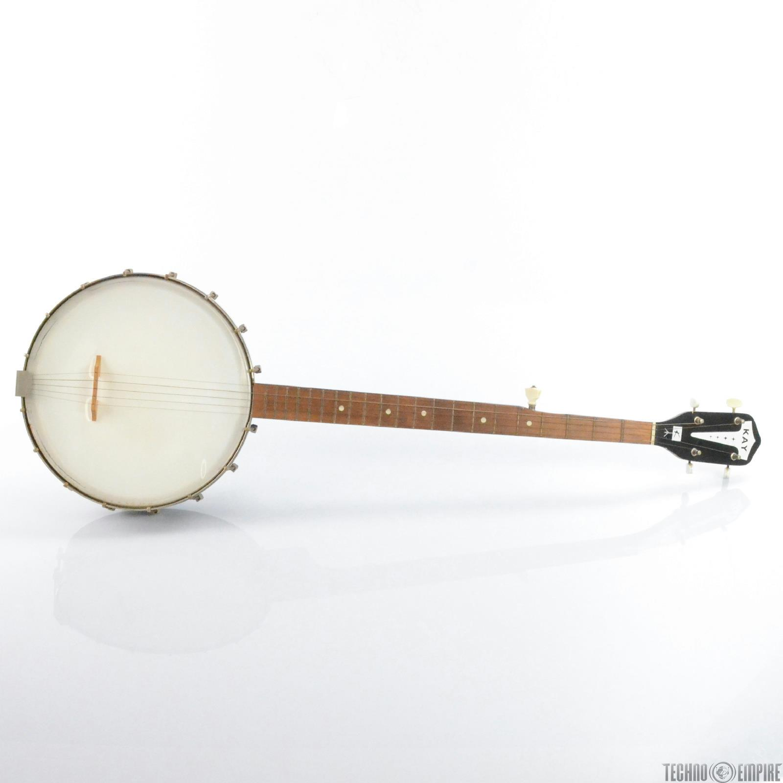 1960s Kay 5-String Open Back Banjo Acoustic Folk Instrument #29813