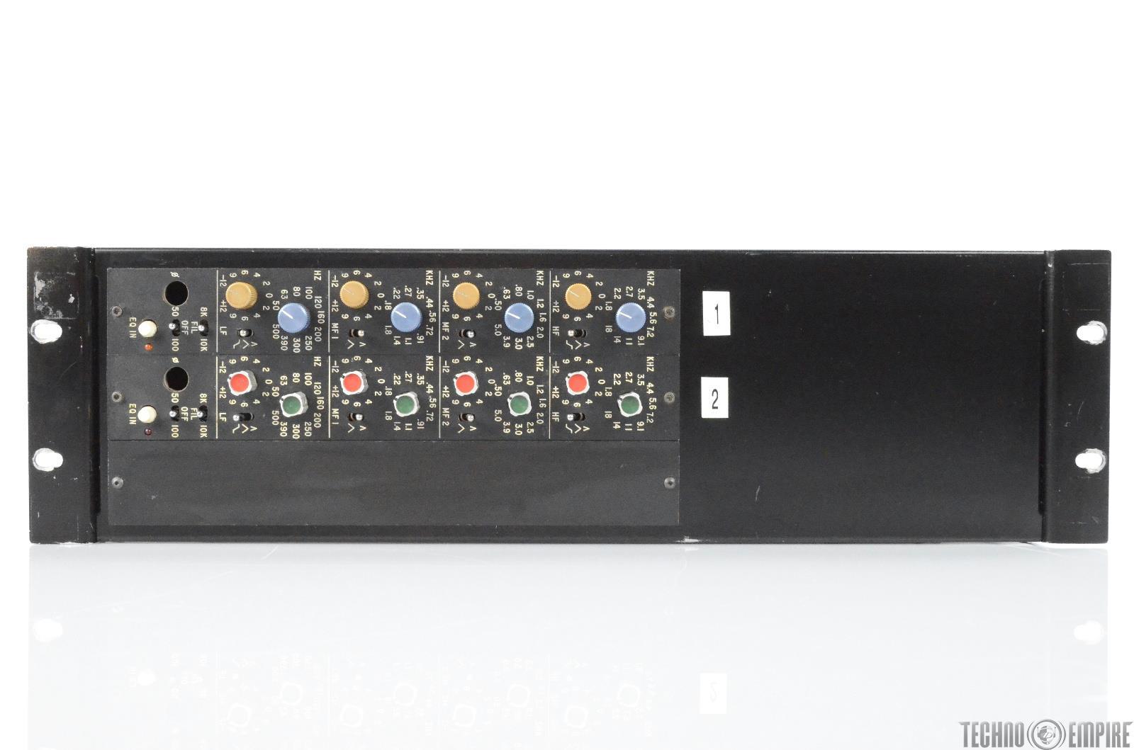 A&M Studios Quad Eight 444 Quad Band EQ Equalizer Pair w/ Powered Rack #29851