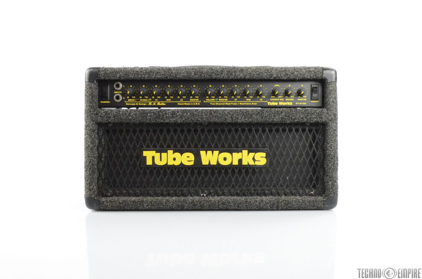 Tube Works RT-2100 MosValve Two Channel Real Tube Amp Head BK Butler USA  #29806