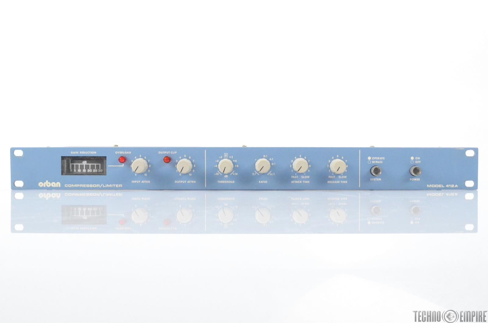 Orban Model 412A Compressor Limiter Blue Dynamic Rack Unit 412 A #29765
