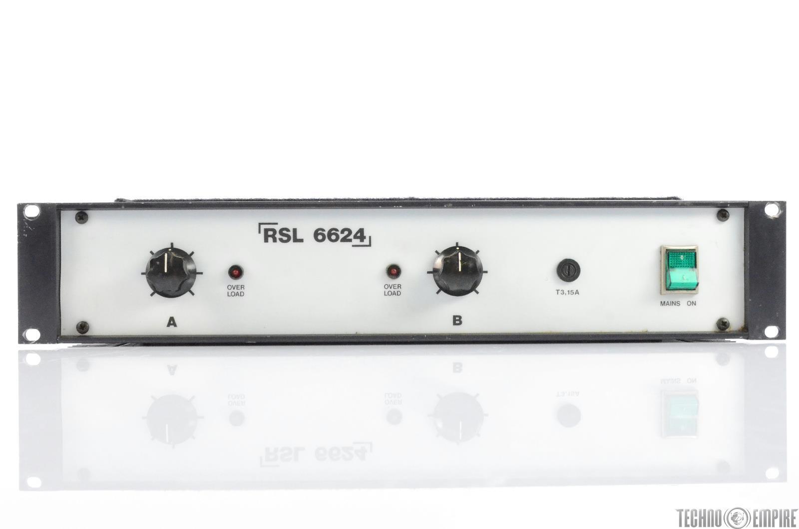 RSL Music 6624 Stereo Amplifier Power Amp Made in Sweden #29854