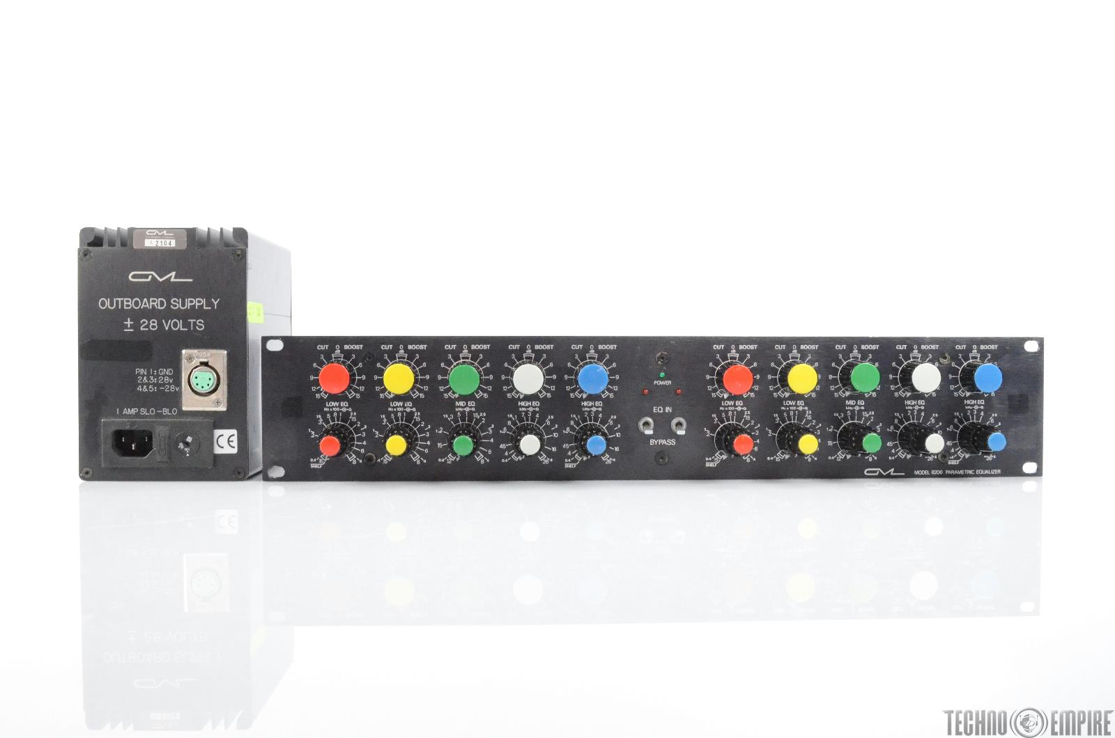 GML 8200 Parametric Equalizer EQ w/ Power Supply George Massenburg Labs #29832