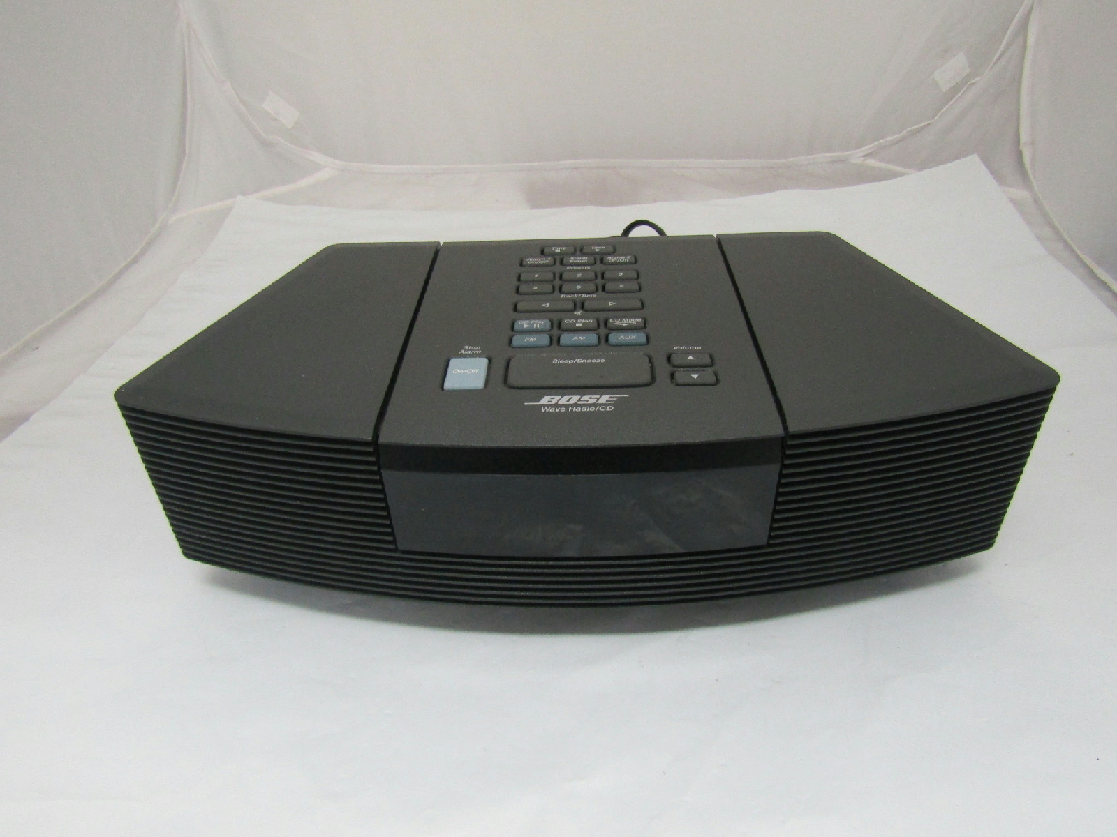 bose wave radio cd player alarm clock awrc 1g black no. Black Bedroom Furniture Sets. Home Design Ideas