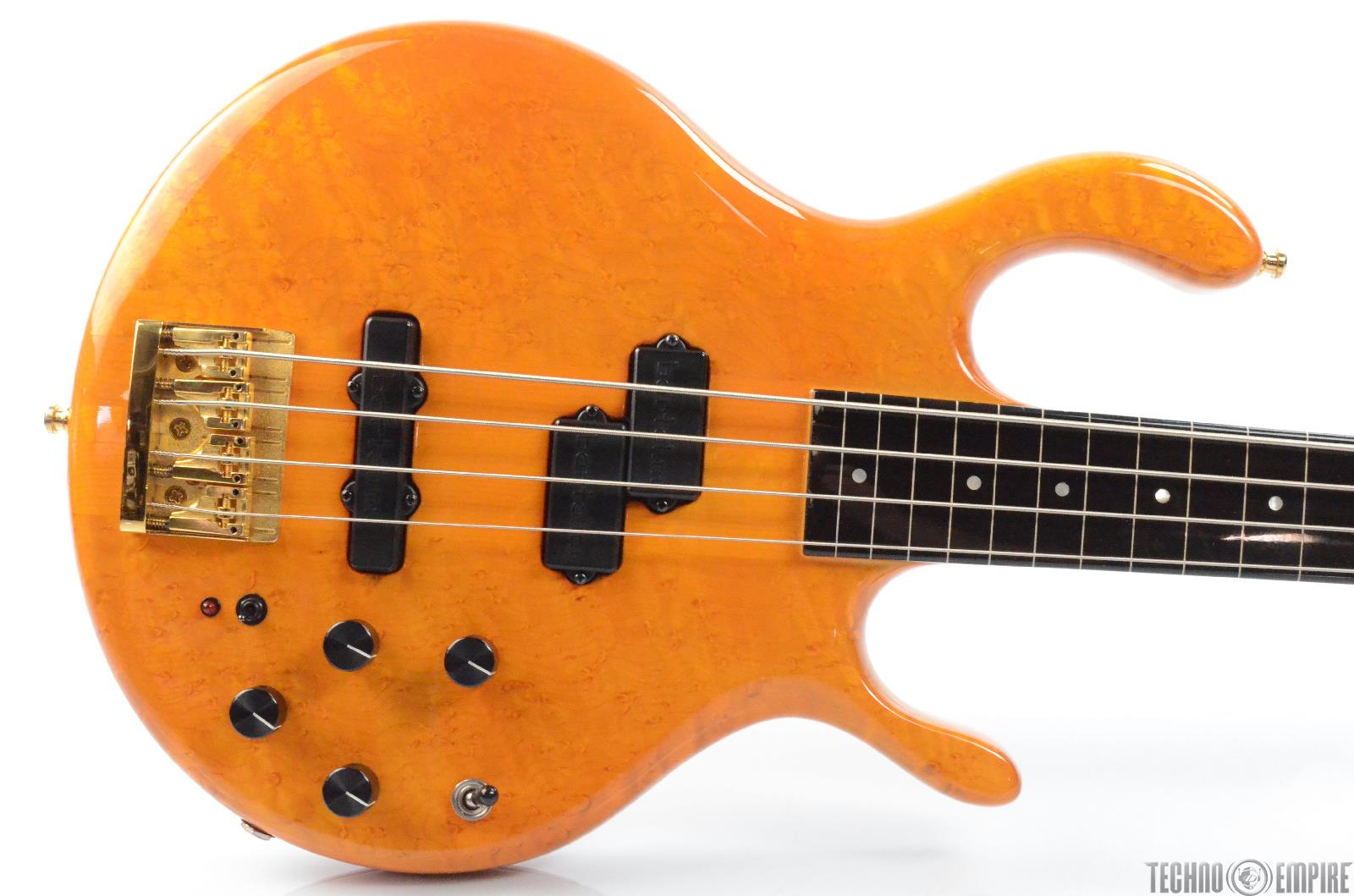 1986 Pedulla Buzz 4-String Fretless Bass Birdseye Maple Bartolini Pickups #29945