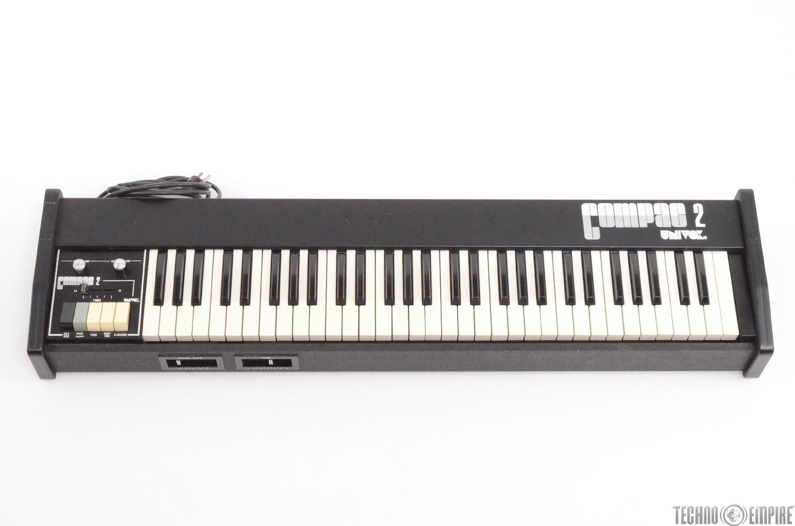 Univox Compac 2 Electric Piano Keyboard Synthesizer #29817