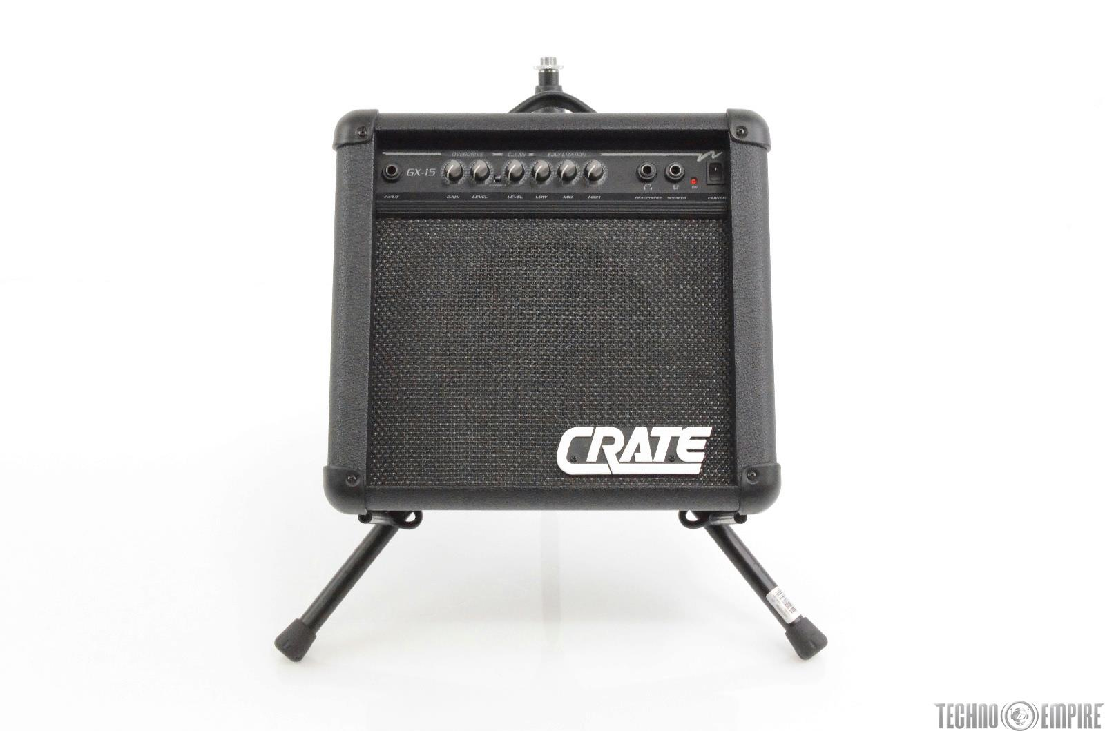 Crate GX-15 Guitar Amp w/ Ultimate Support Amp-150 Genesis Amp Stand GX15 #29940
