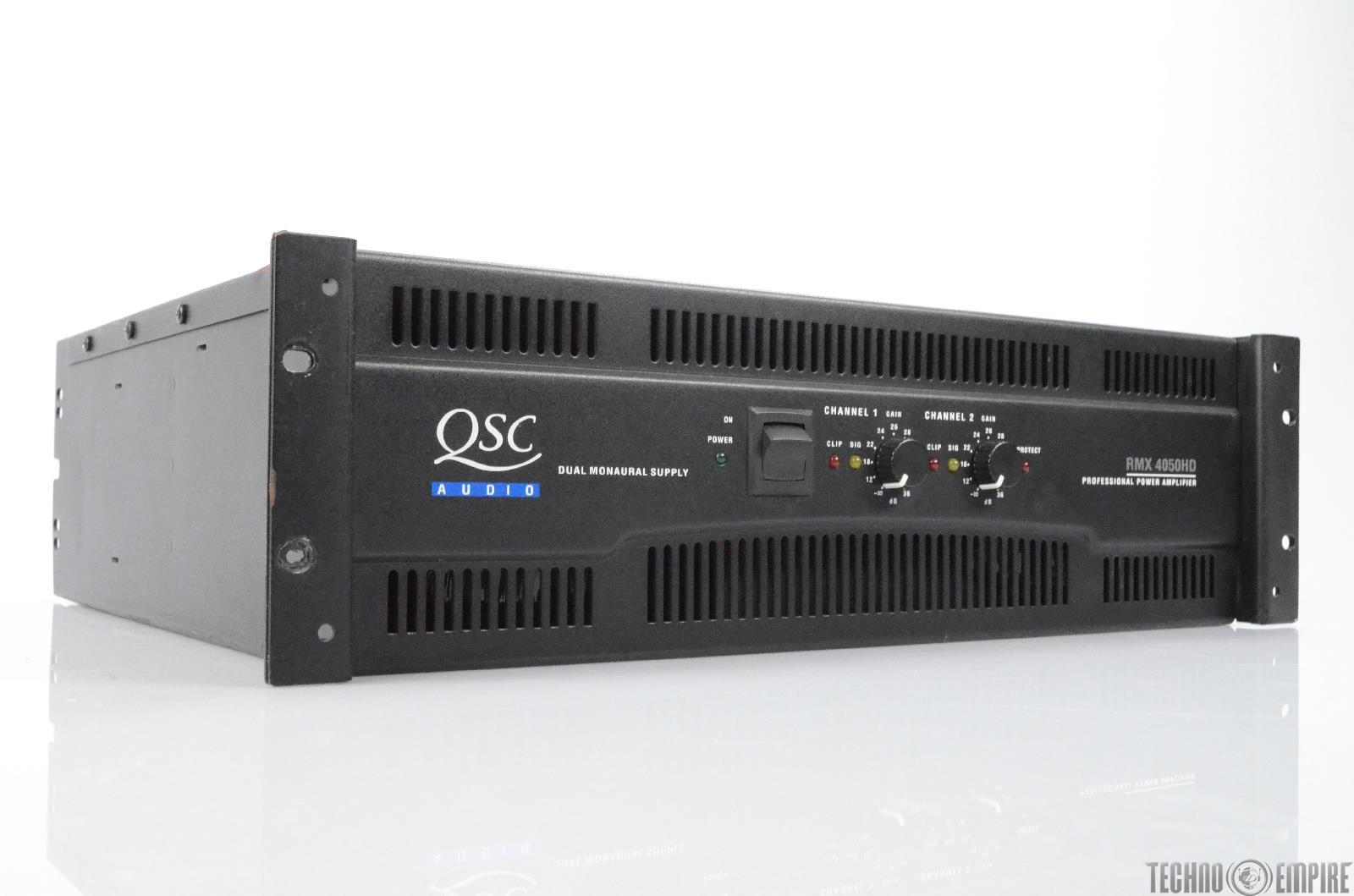 qsc audio rmx 4050hd 2 channel professional 1400 watt power amplifier 29667 ebay. Black Bedroom Furniture Sets. Home Design Ideas