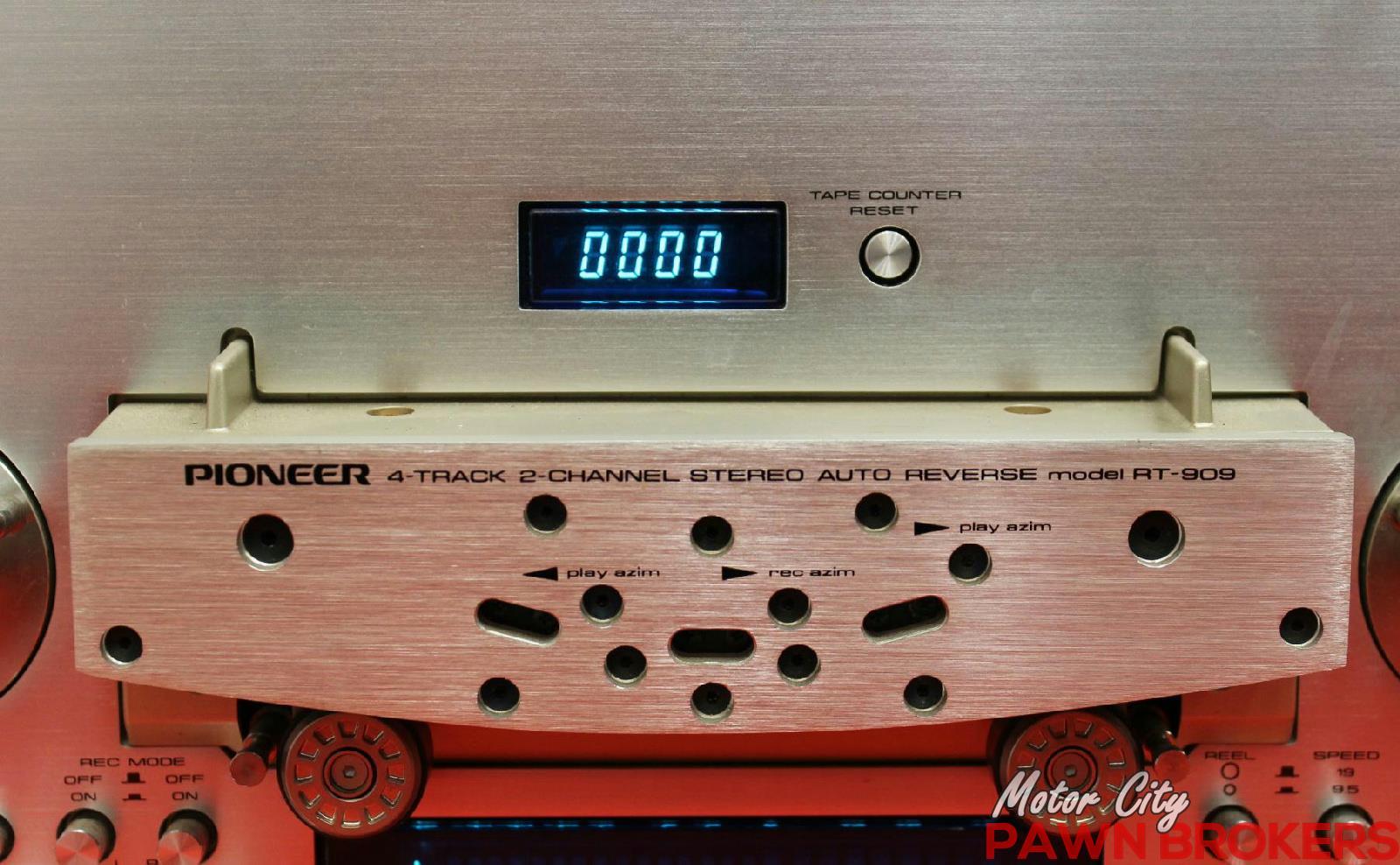 Pioneer rt 909 3 motor 7 10 reels vintage reel for Motor city pawn shop