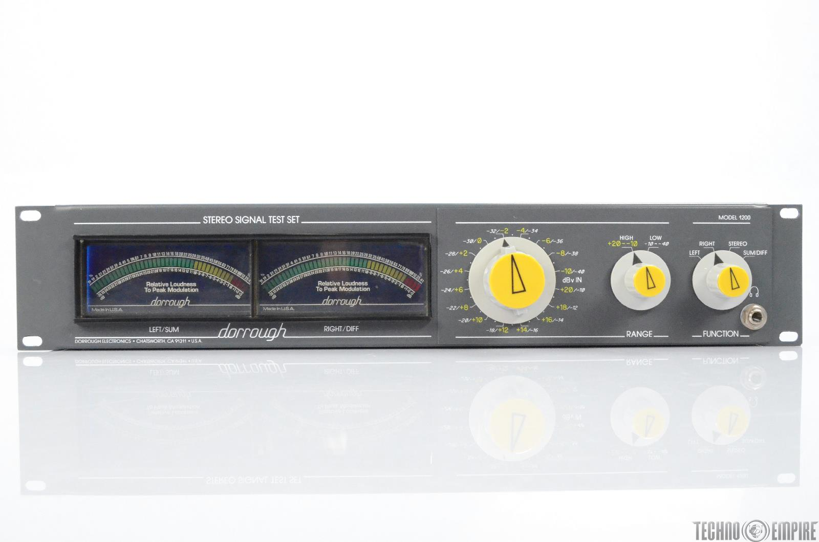 Dorrough Electronics Model 1200 Stereo Signal Test Set Dual Channel #29616