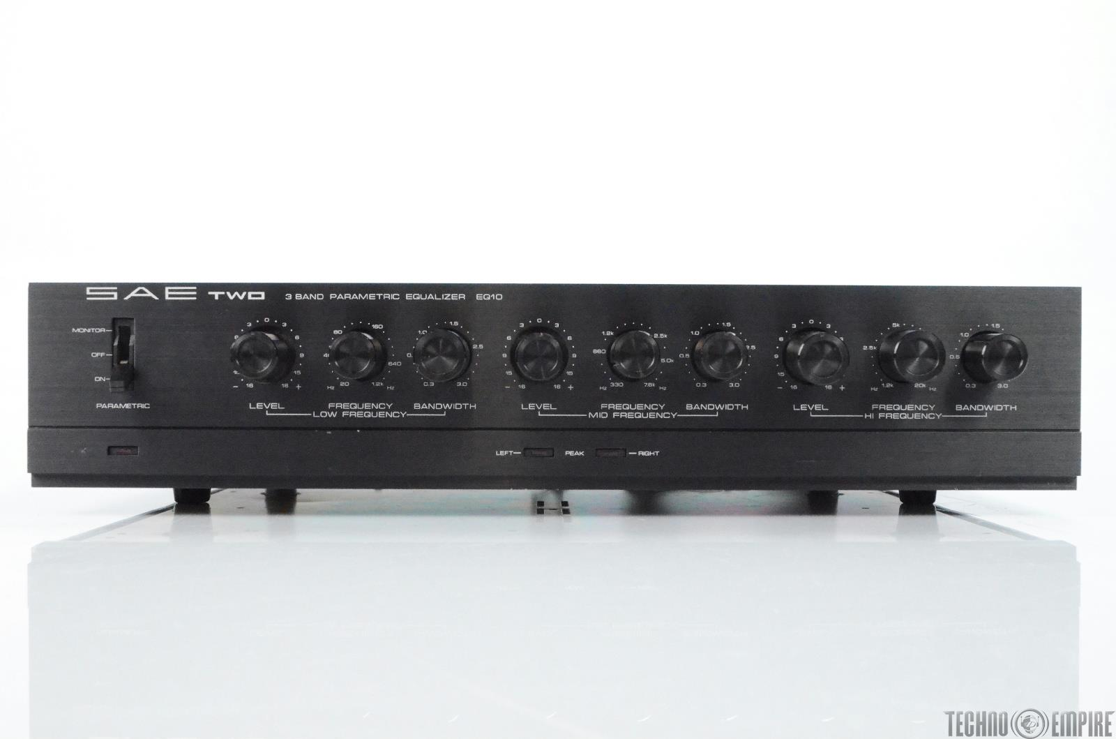 SAE Two EQ10 3 Band Parametic Stereo Dual Channel Equalizer Audiophile #29613