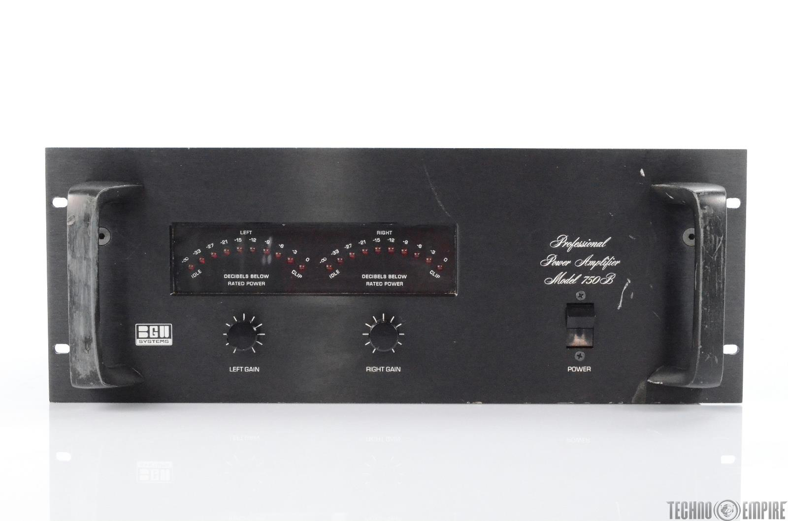 BGW Model 750B Professional Stereo Power Amplifier Rack Amp 225W #29614