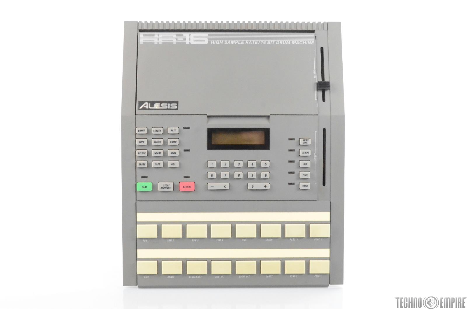 Alesis HR-16 High Sample Rate 16 Bit Drum Machine w/ Guide & PSU HR16 #29942