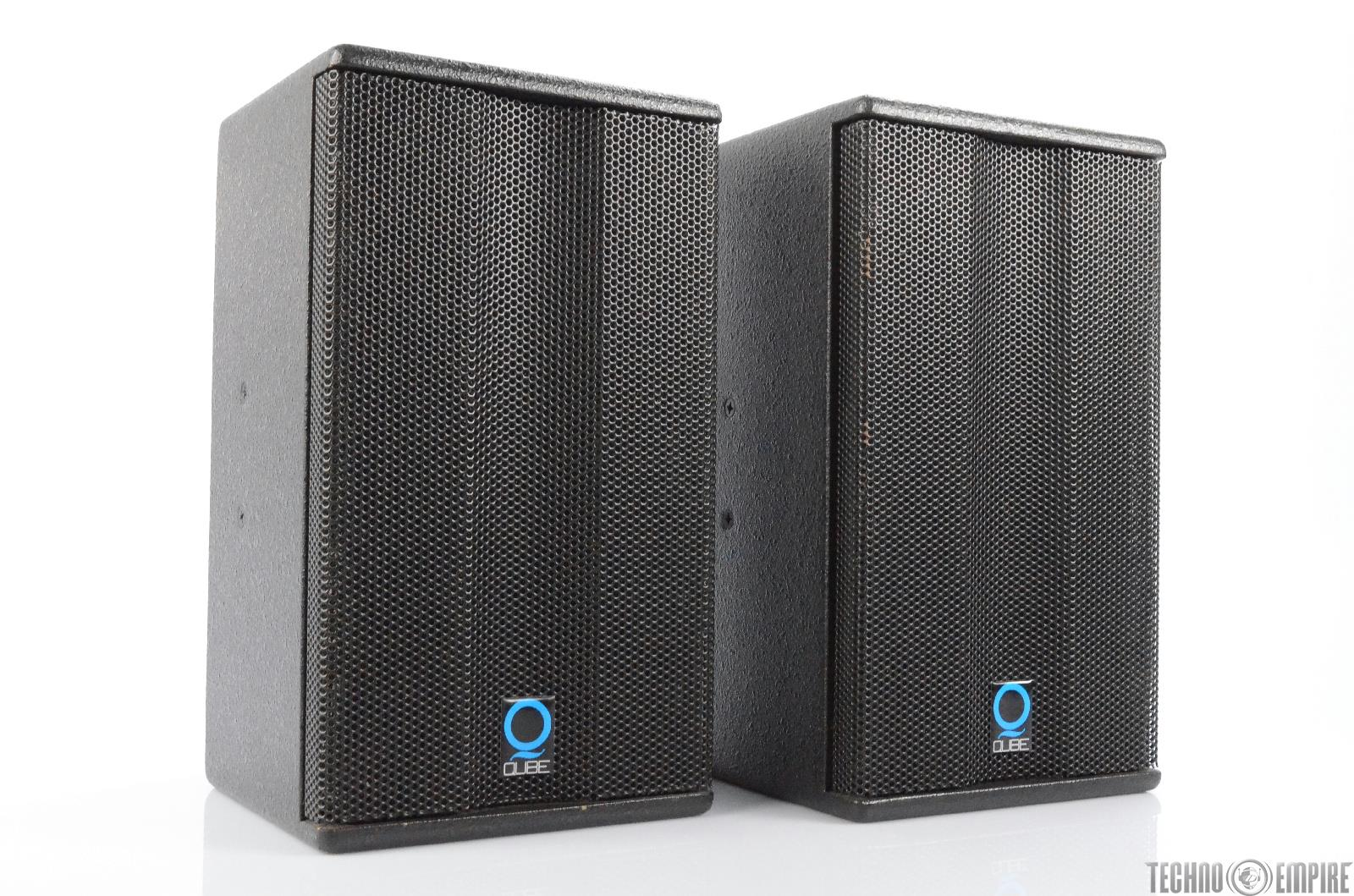"""2 Qube Q 106A Two-Way 6.5"""" Active Powered PA Loudspeakers Speakers 106 A #29939"""