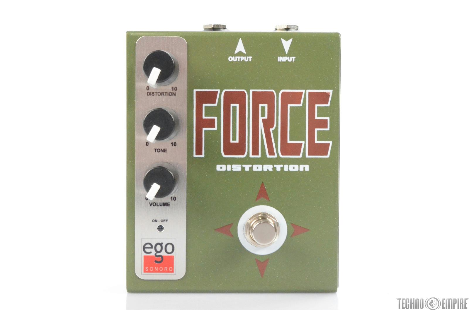 Ego Sonoro Force Distortion Guitar Effect Pedal w/ Original Packaging#29964