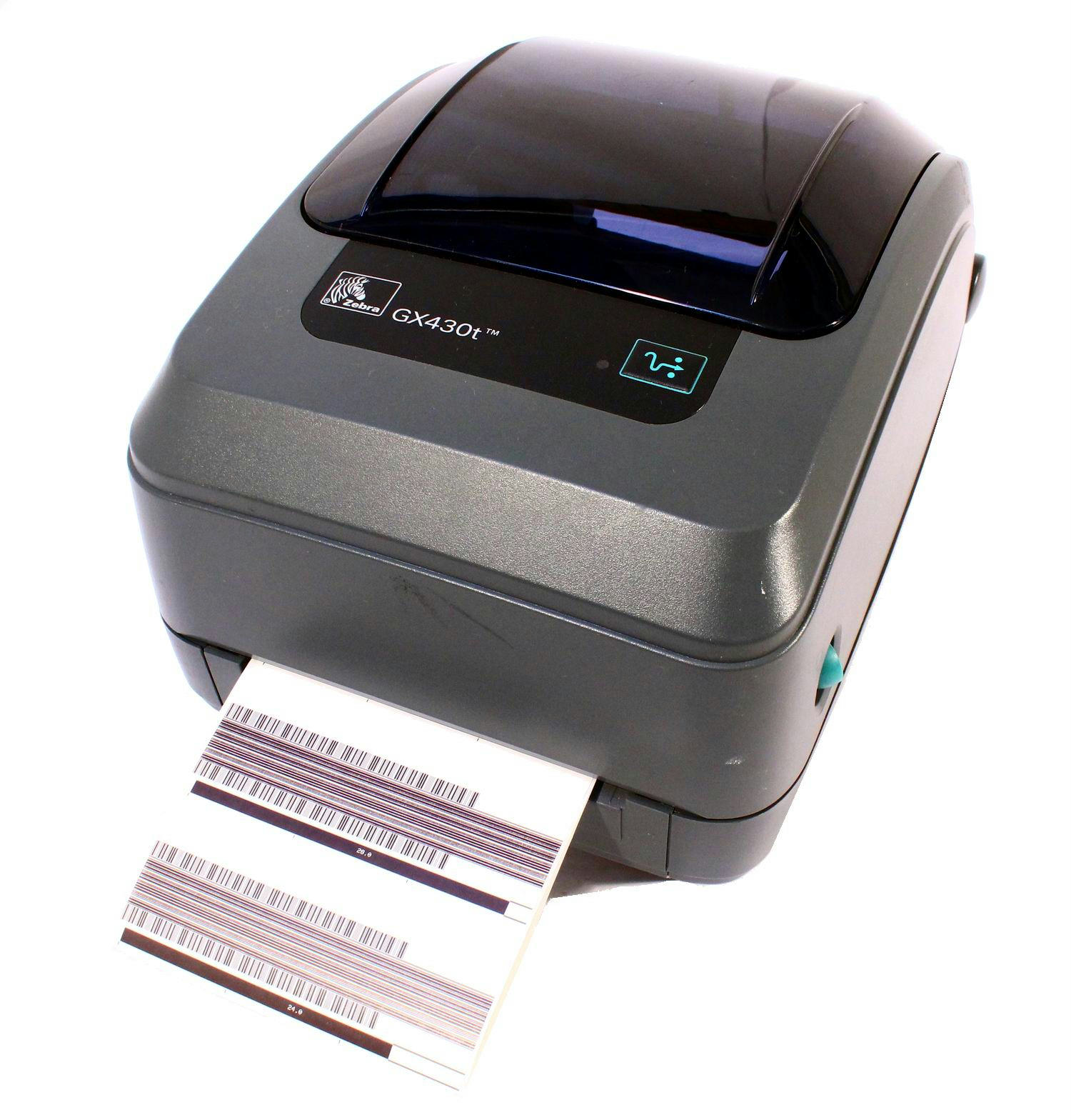 Zebra GX430T GX43-100310-000 Thermal Barcode Label Printer