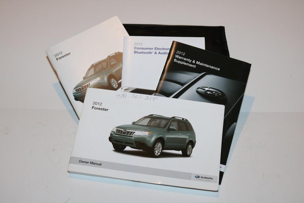 12 2012 subaru forester owners manual book guide set w case 8080 rh ebay com 2014 Subaru Forester Manual 2014 Subaru Forester Manual