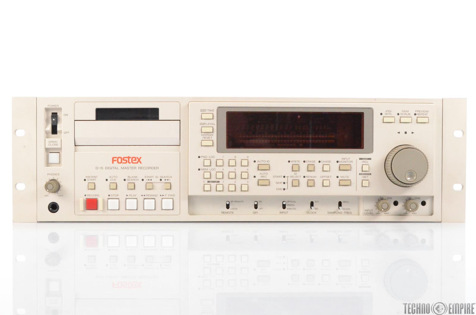 Fostex D-15 Digital Master Recorder DAT Tape D15 #29501