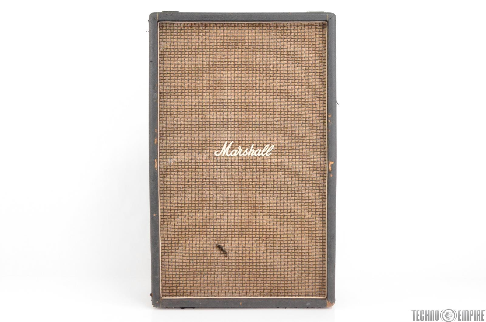 1970's Marshall 1990 8x10 Tall Cab Guitar Cabinet Owned by Matt Hyde #30102