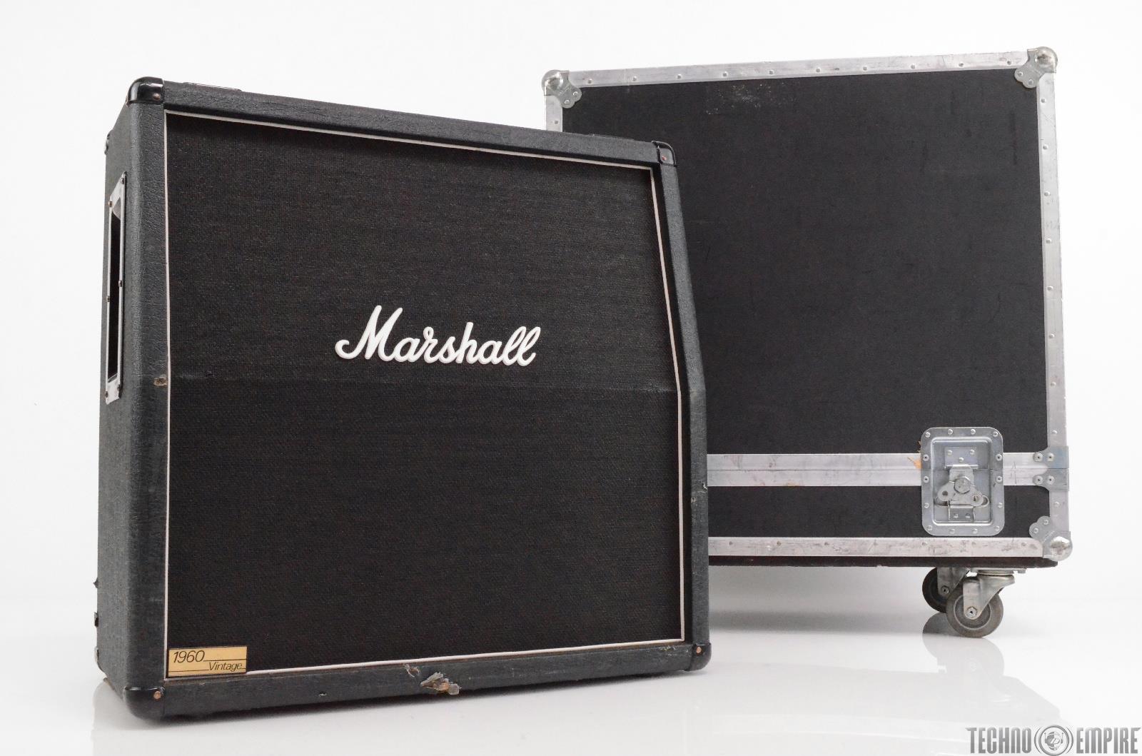 Marshall 1960 Vintage AV 4x12 Celestion Speaker Cabinet w/ Case Matt Hyde #30096