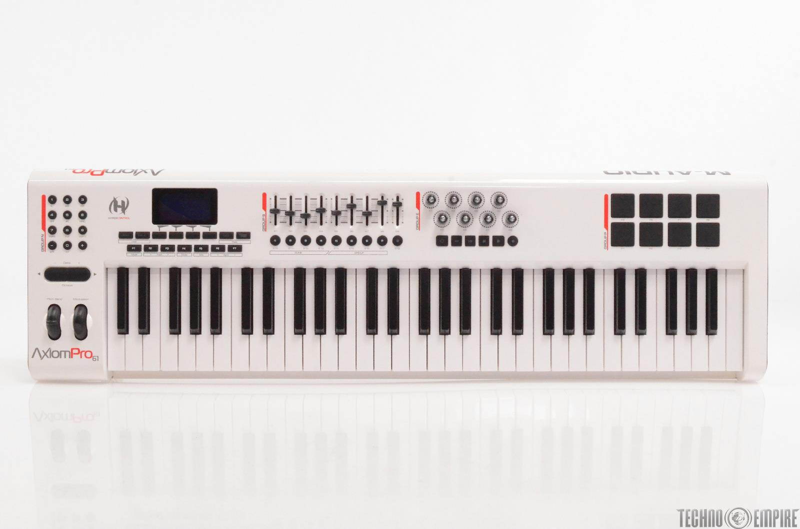 M-Audio Axiom Pro 61 Key USB MIDI Keyboard Controller White NEEDS REPAIR #29224