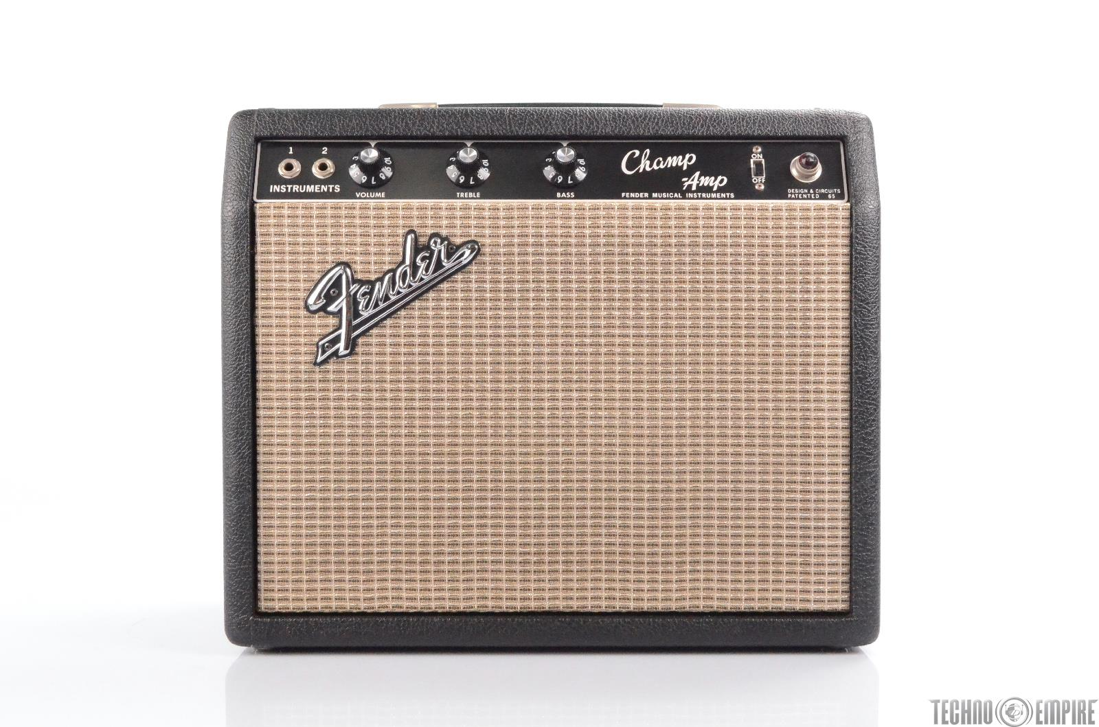 1966 Fender Champ Amp Blackface Vintage Combo Tube Amp Owned by Matt Hyde #30208