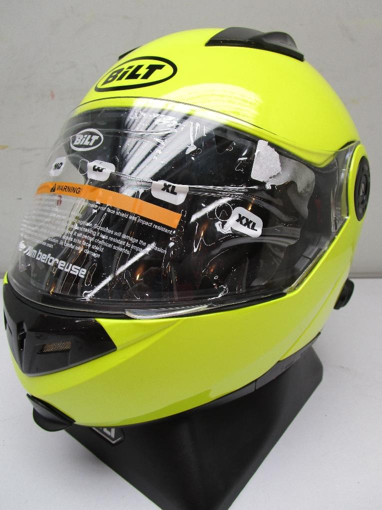 Bilt Techno System Mod Blue Tooth Full Face Helmet Day Glo Xs Ebay