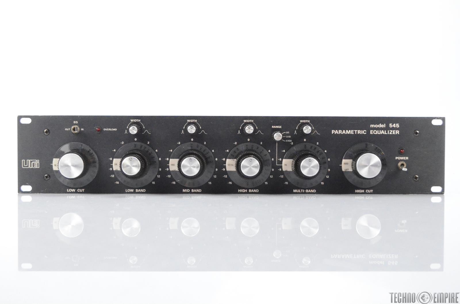 UREI Model 545 4-Band Parametric Equalizer EQ w/ XLR Spade I/O Pigtail #29973