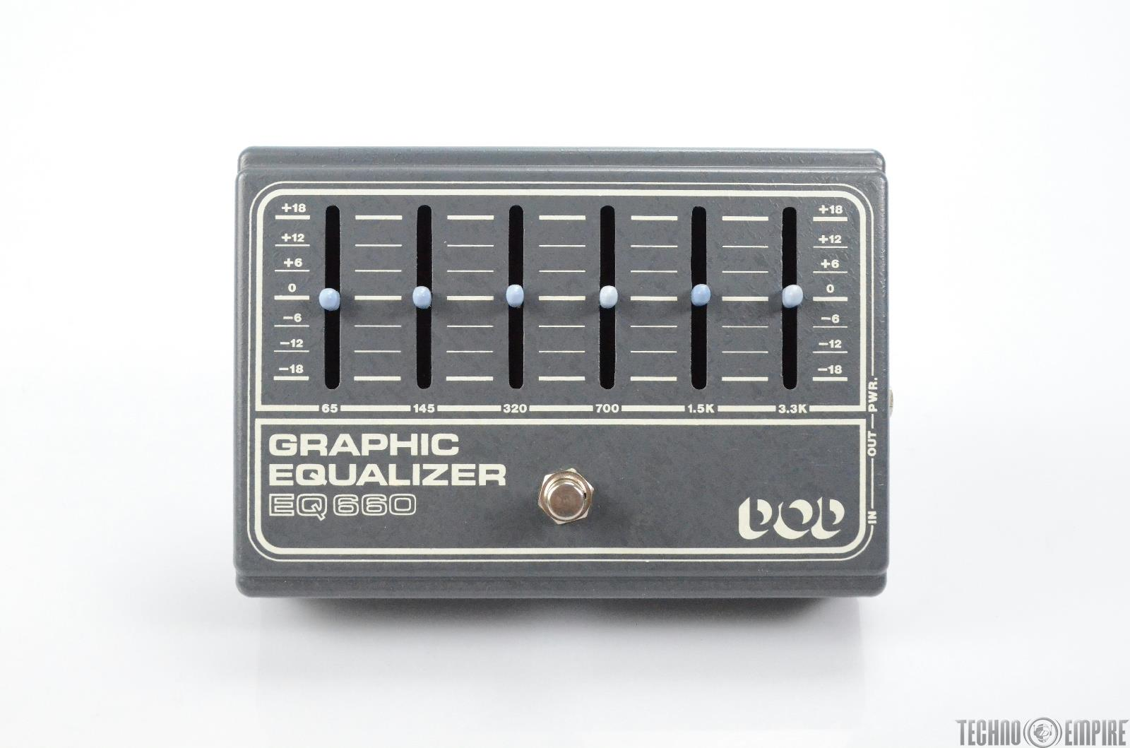 Vintage DOD EQ 660 Graphic Equalizer Grey/White Owned by Matt Hyde #30127