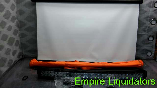 """Cozime PULL DOWN Projector Screen 40"""" 16.9 MICTUNING 32"""" 180W Curved LED 3B239C"""