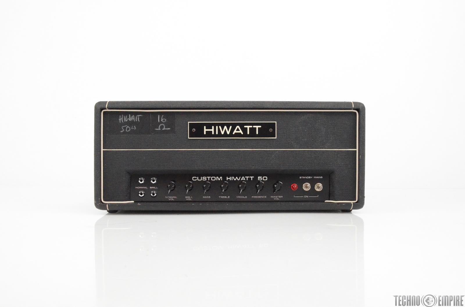 1976 Hiwatt Custom 50 DR504 Tube 50W Guitar Amp Head Owned by Matt Hyde #30299