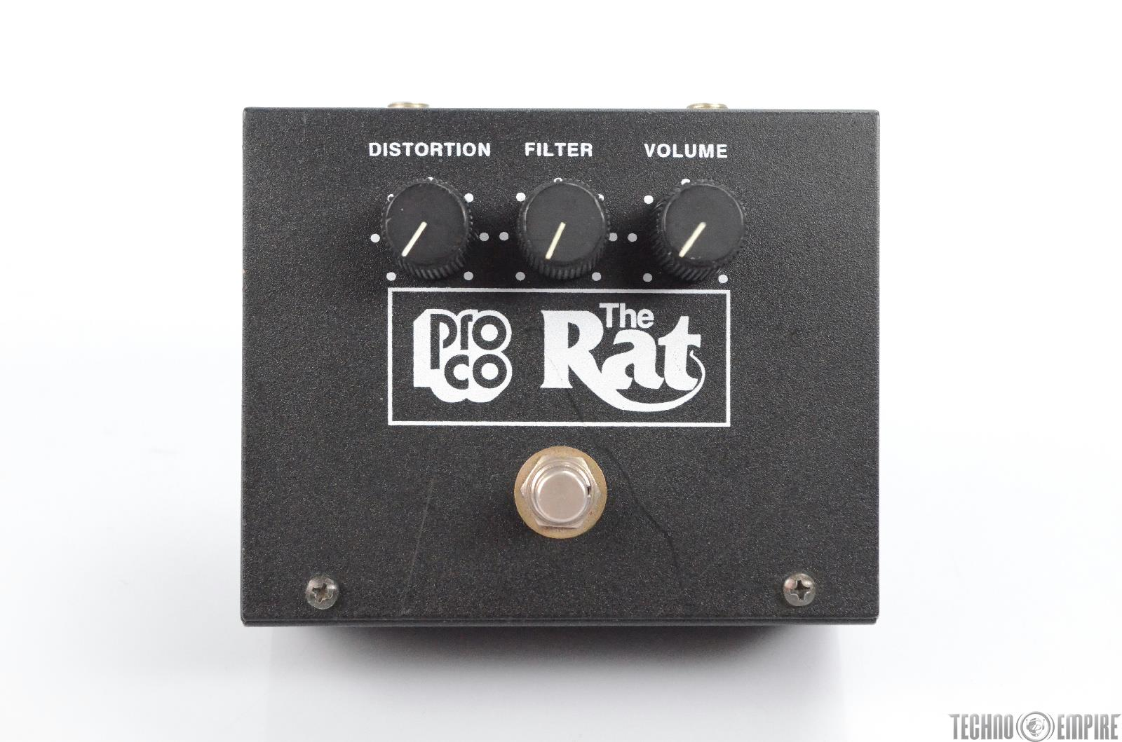 1990's ProCo Vintage The Rat Guitar Distortion Pedal Owned by Matt Hyde #30082